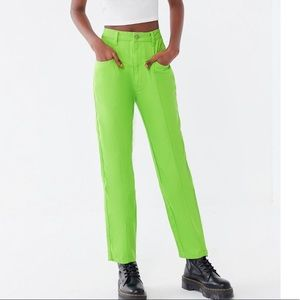 Urban Outfitters Pants - lime green straight leg pants